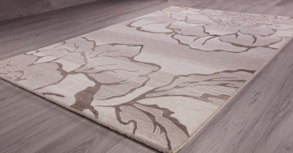 килим талас 0303 пясъчен беж/бял